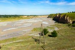 O rio de Aksu em Cazaquistão na primavera Fotos de Stock Royalty Free