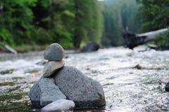 O rio de Cowlitz Foto de Stock Royalty Free