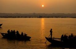 O rio de Ganges, India fotos de stock royalty free