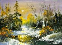 O rio de madeira ilustração stock