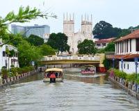O rio de Malacca Fotos de Stock Royalty Free