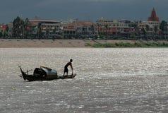 O rio de Mekong Fotos de Stock Royalty Free