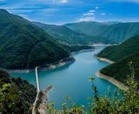 O rio de Montenegro com montanhas ajardina da altura Imagem de Stock Royalty Free