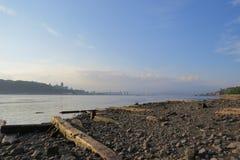 O rio de Saint Laurent de um porto antigo Imagem de Stock Royalty Free