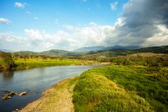 O rio de Tarcoles em Costa Rica fotografia de stock royalty free