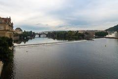 O rio de Vltava Imagem de Stock