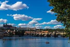 O rio de Vltava Imagens de Stock Royalty Free