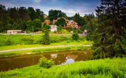 O rio do Blackwater em Thomas, West Virginia Fotos de Stock