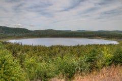 O rio do pombo corre através do parque estadual grande e do Indi de Portage fotos de stock royalty free