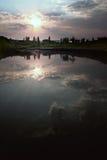 O rio e o por do sol Imagem de Stock Royalty Free