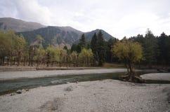 O rio em Kashmir fotografia de stock royalty free