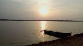 O rio Godavari imagens de stock