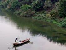 O rio Godavari Foto de Stock