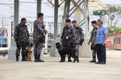 O Rio guarda o anti treinamento do terrorismo para o Rio 2016 dos Jogos Olímpicos Foto de Stock Royalty Free