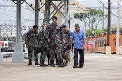 O Rio guarda o anti treinamento do terrorismo para o Rio 2016 dos Jogos Olímpicos Foto de Stock