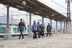 O Rio guarda o anti treinamento do terrorismo para o Rio 2016 dos Jogos Olímpicos Imagens de Stock Royalty Free