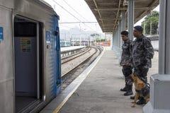 O Rio guarda o anti treinamento do terrorismo para o Rio 2016 dos Jogos Olímpicos Fotografia de Stock Royalty Free