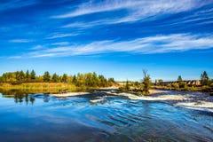O rio largo e tormentoso de Winnipeg Foto de Stock