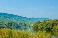 O rio Moselle, Alemanha Fotografia de Stock