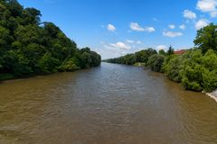 O rio Mur Mura, Áustria Imagens de Stock Royalty Free