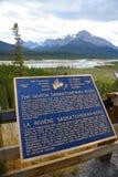 O rio norte de Saskatchewan Foto de Stock