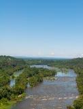 O Rio Potomac perto da balsa dos harpistas, as alturas ocidentais de Virginia Aerial View From Maryland negligencia Fotografia de Stock Royalty Free