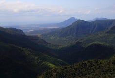 O rio preto Gorges o parque nacional Maurícias foto de stock