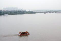 O rio Songhua, Harbin, China Imagens de Stock