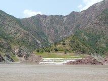 O rio Vakhsh em Tajiquistão Imagens de Stock Royalty Free
