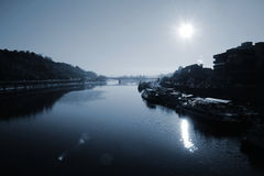 O rio Vltava Fotografia de Stock