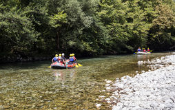 O rio Voidomatis da montanha imagem de stock