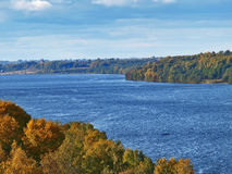 O rio Volga Fotos de Stock Royalty Free