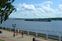 O Rio Volga em Kostroma Fotos de Stock Royalty Free