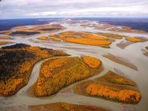 O Rio Yukon Alaska Foto de Stock Royalty Free