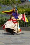 O ritual dança de Buthan em NY Fotos de Stock Royalty Free