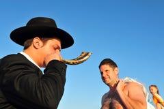 O ritual judaico - Tashlich Fotografia de Stock