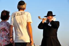 O ritual judaico - Tashlich Imagens de Stock
