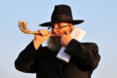O ritual judaico - Tashlich Fotos de Stock