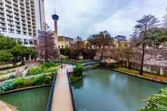 O Riverwalk em San Antonio, Texas fotos de stock