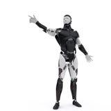 O robô aponta seu dedo Ilustração Royalty Free