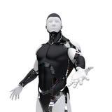 O robô dá uma mão Ilustração Stock