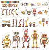 O robô ilustrado do vetor parte o jogo da coleção ilustração do vetor