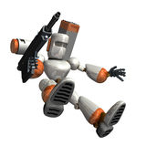O robô do combate está tentando aterrar ilustração stock