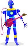 o robô 234e esperto está jogando a guitarra para a música Fotos de Stock Royalty Free