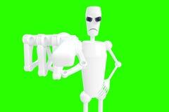 O robô mostra o gesto Fotografia de Stock Royalty Free