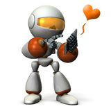 O robô tem um telefonema ilustração do vetor