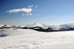 Ośrodek narciarski Obrazy Royalty Free