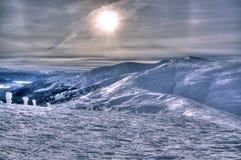 Ośrodek narciarski Dragobrat w zimie Fotografia Stock