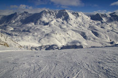 Ośrodek narciarski Francja Espace Killy Zdjęcia Royalty Free