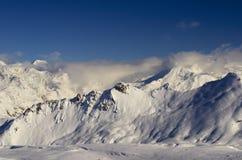 Ośrodek narciarski Francja Espace Killy Zdjęcia Stock